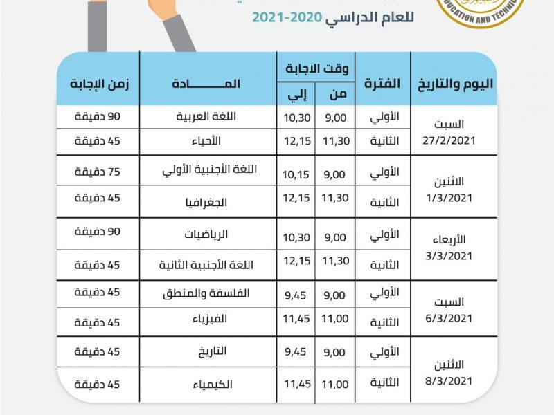 جدول إمتحانات الصف الأول الثانوي 2021 والحصول علي كود الطالب عبر studea.emis.gov.eg