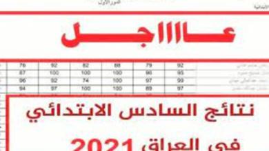نتائج السادس الابتدائي بالعراق 2021
