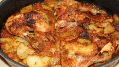 طريقة عمل طاجن البطاطس بالفراخ